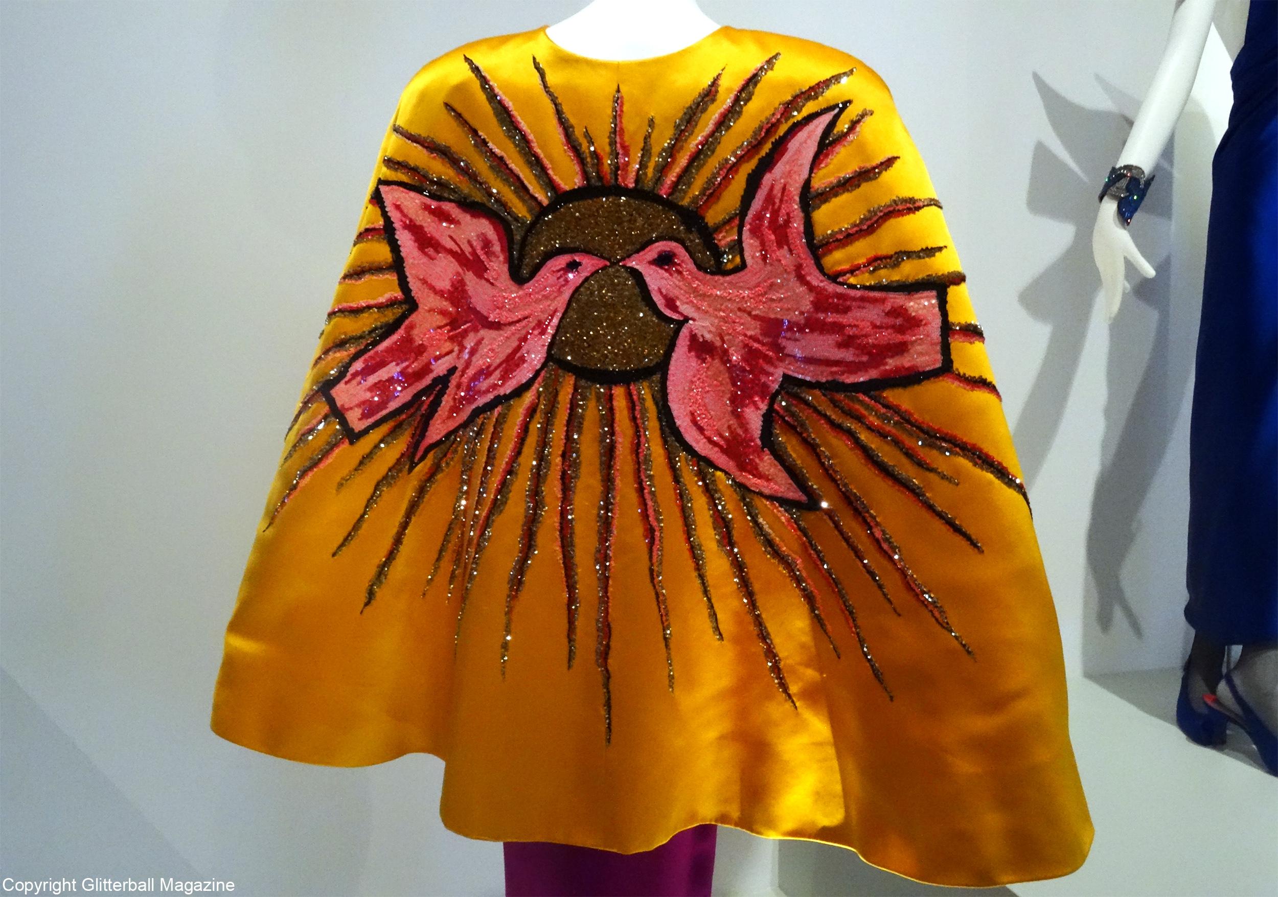 ysl golden cape