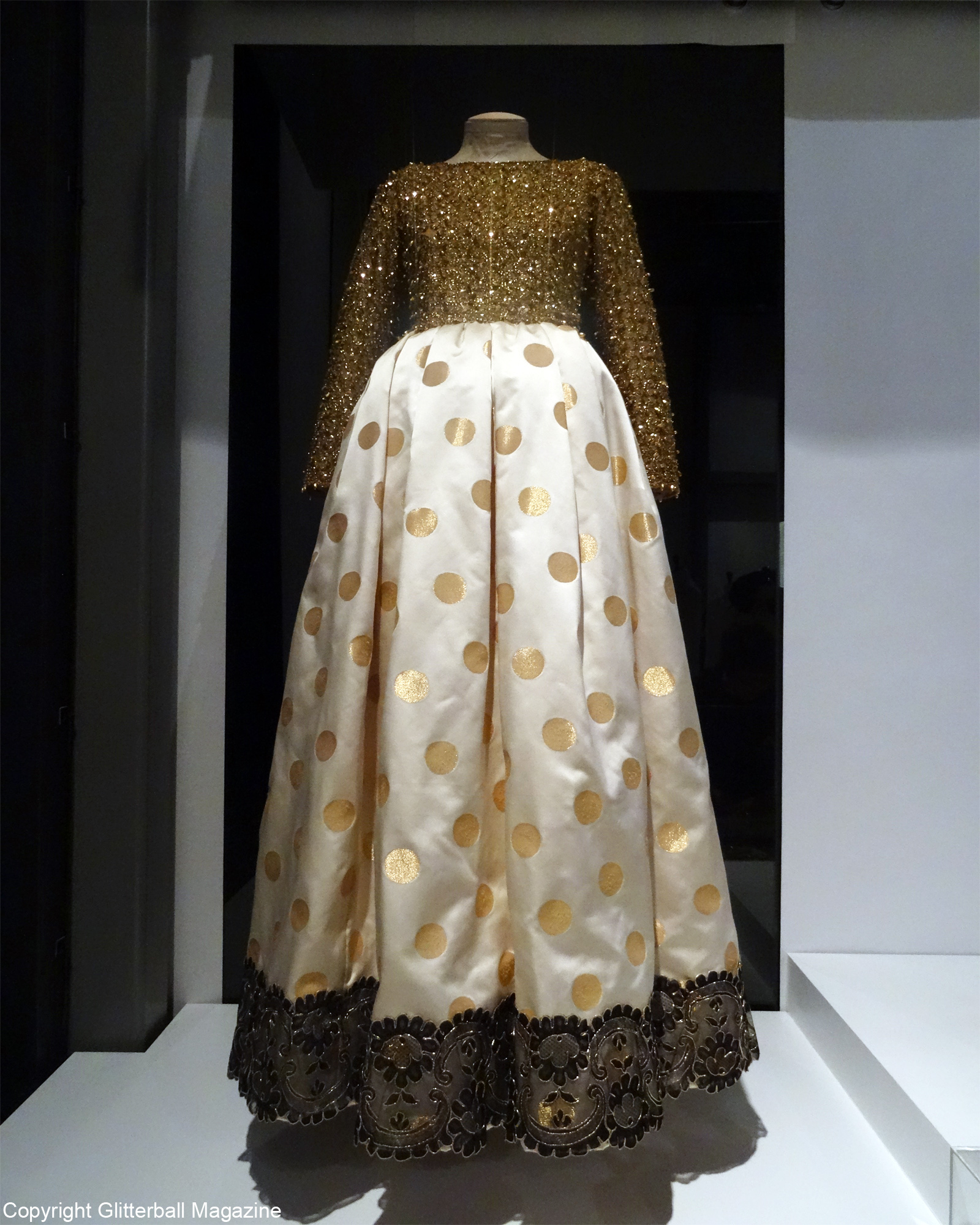 ysl golden dress
