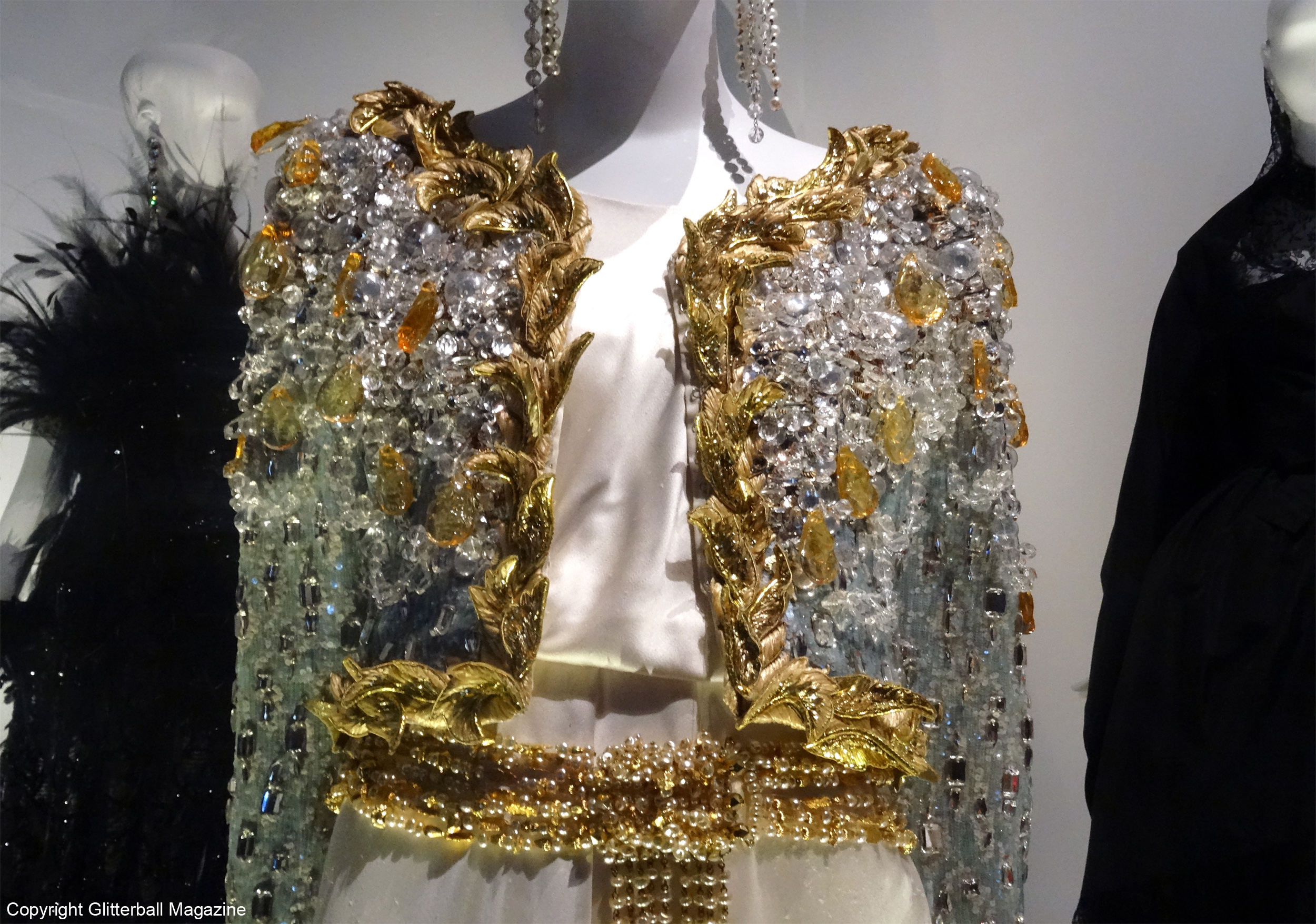 ysl golden jacket close up
