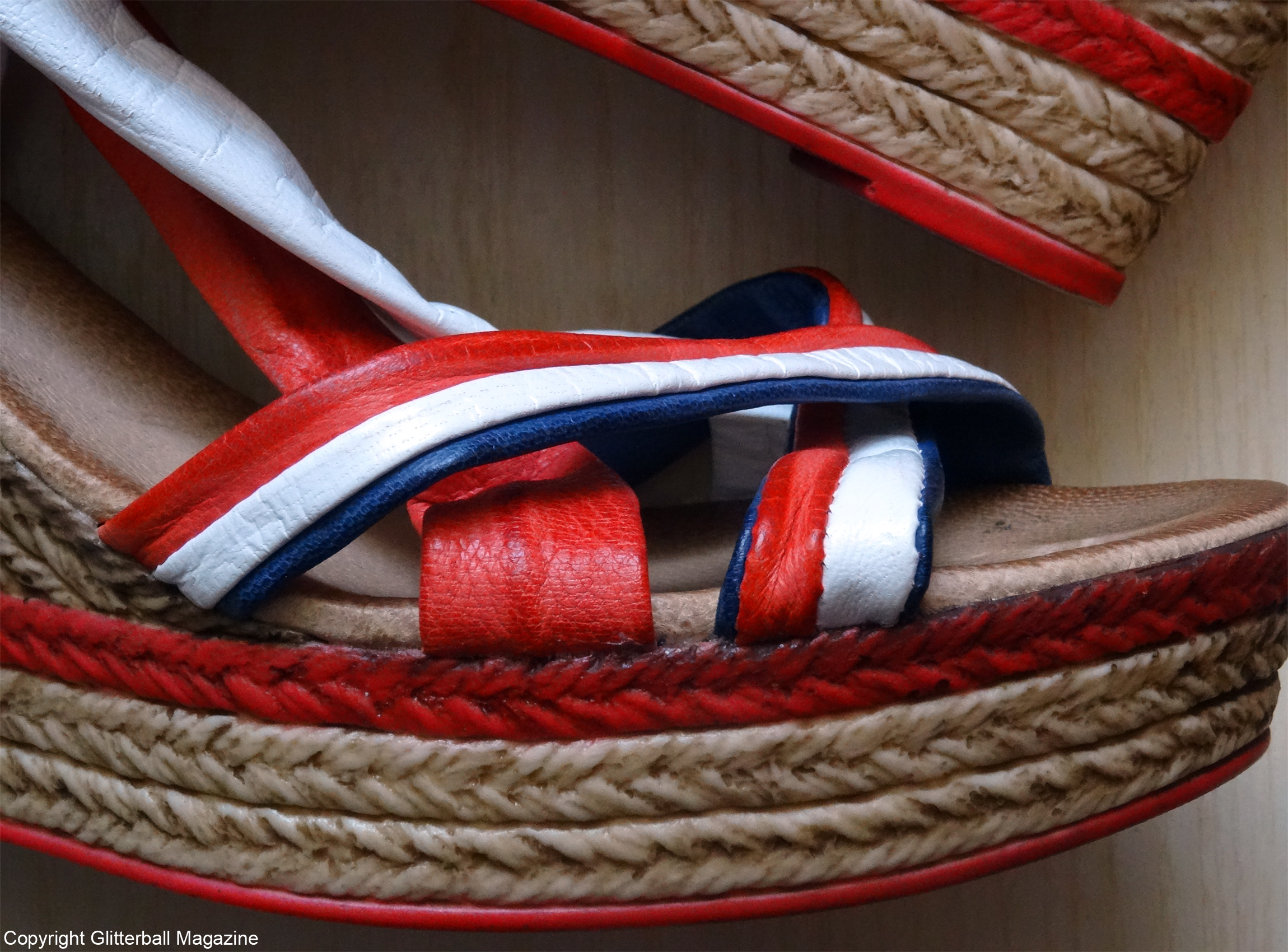 red shoes close up