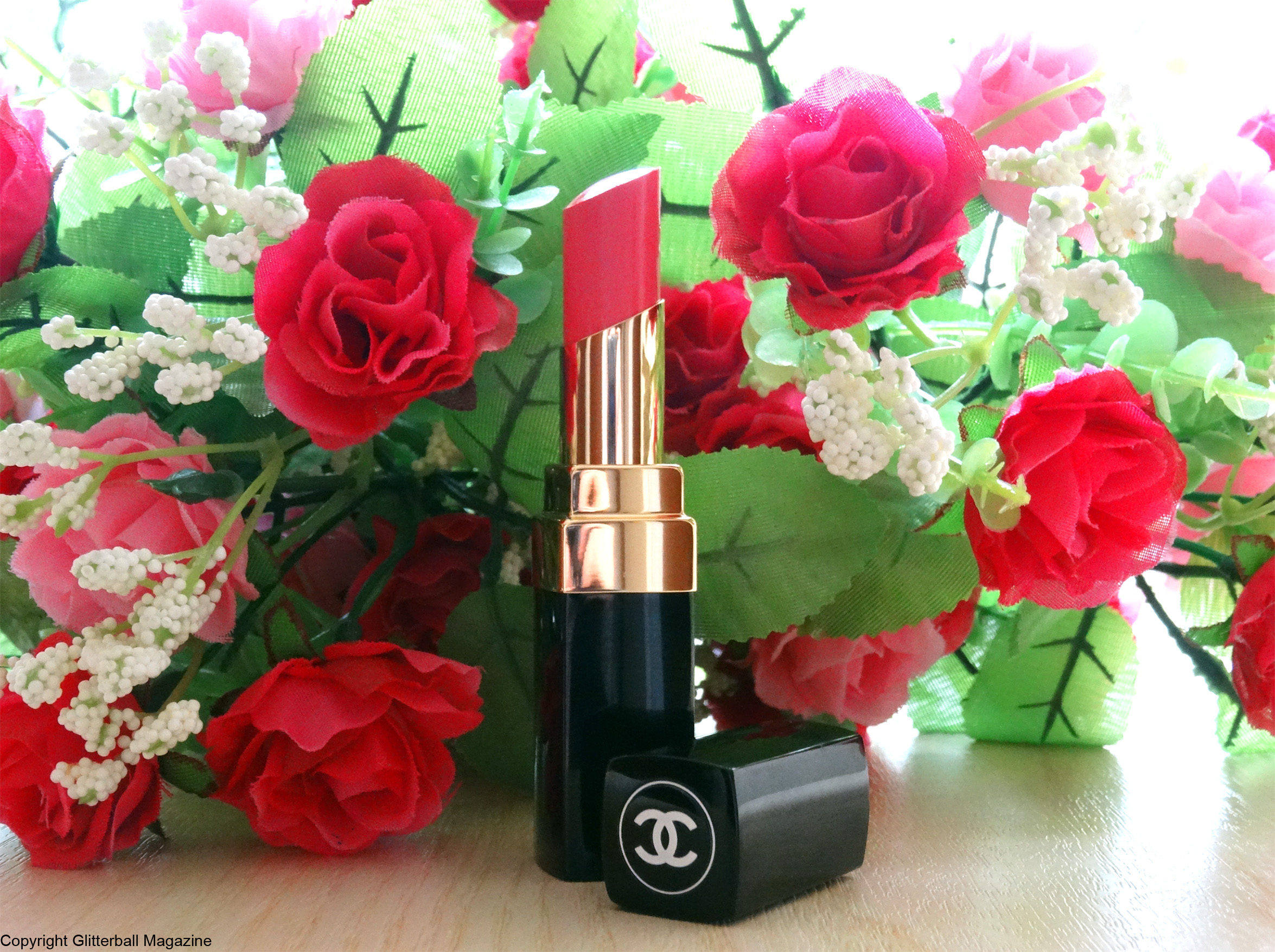 Chanel lipstick with flowers 2