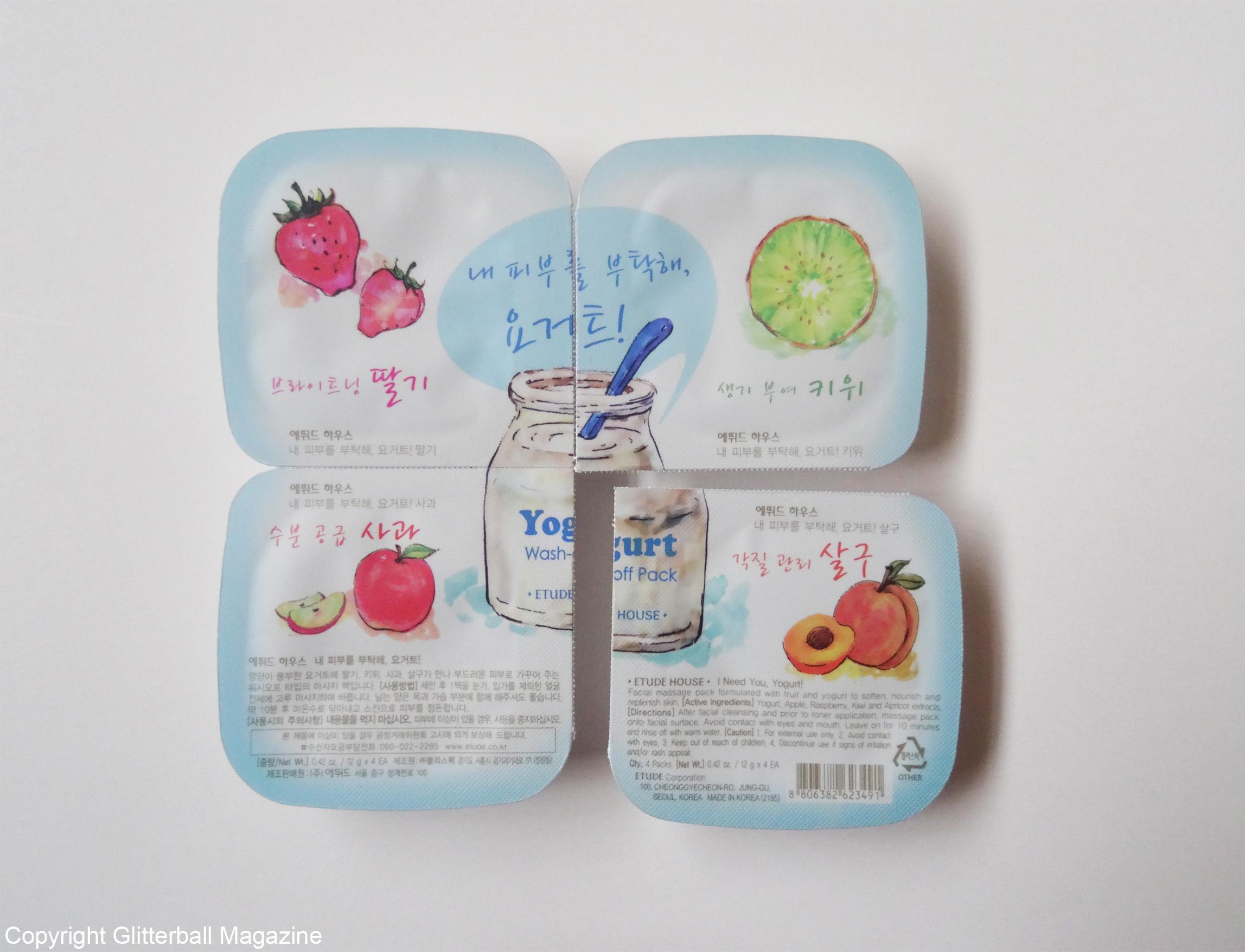 Korean yoghurt face masks 2