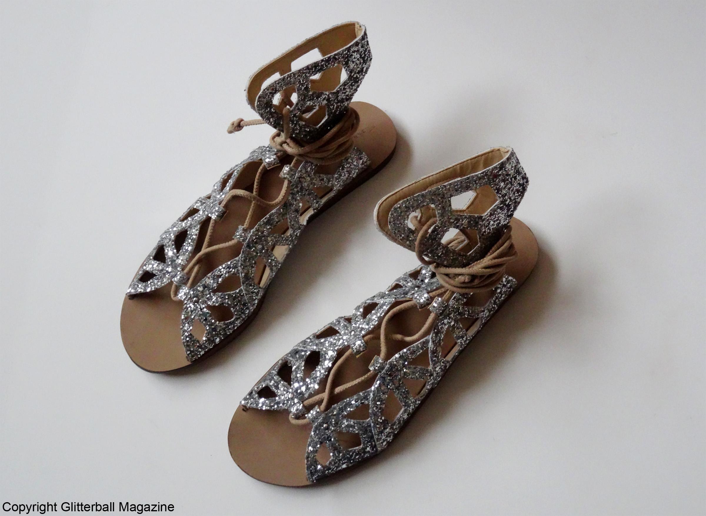 zara glitter sandals