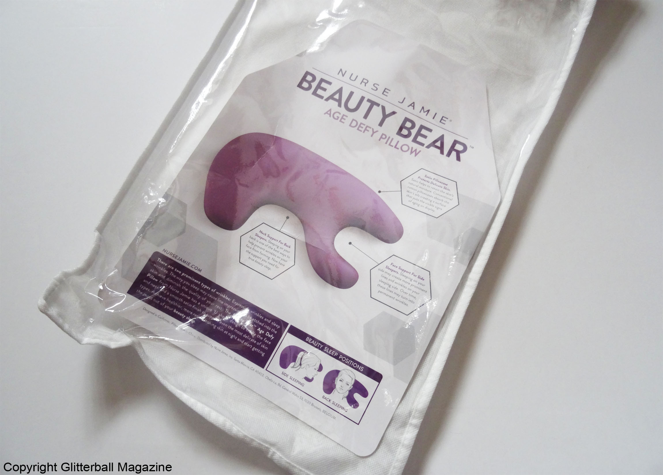 Nurse Jamie Beauty Bear Age Delay Pillow Glitterball