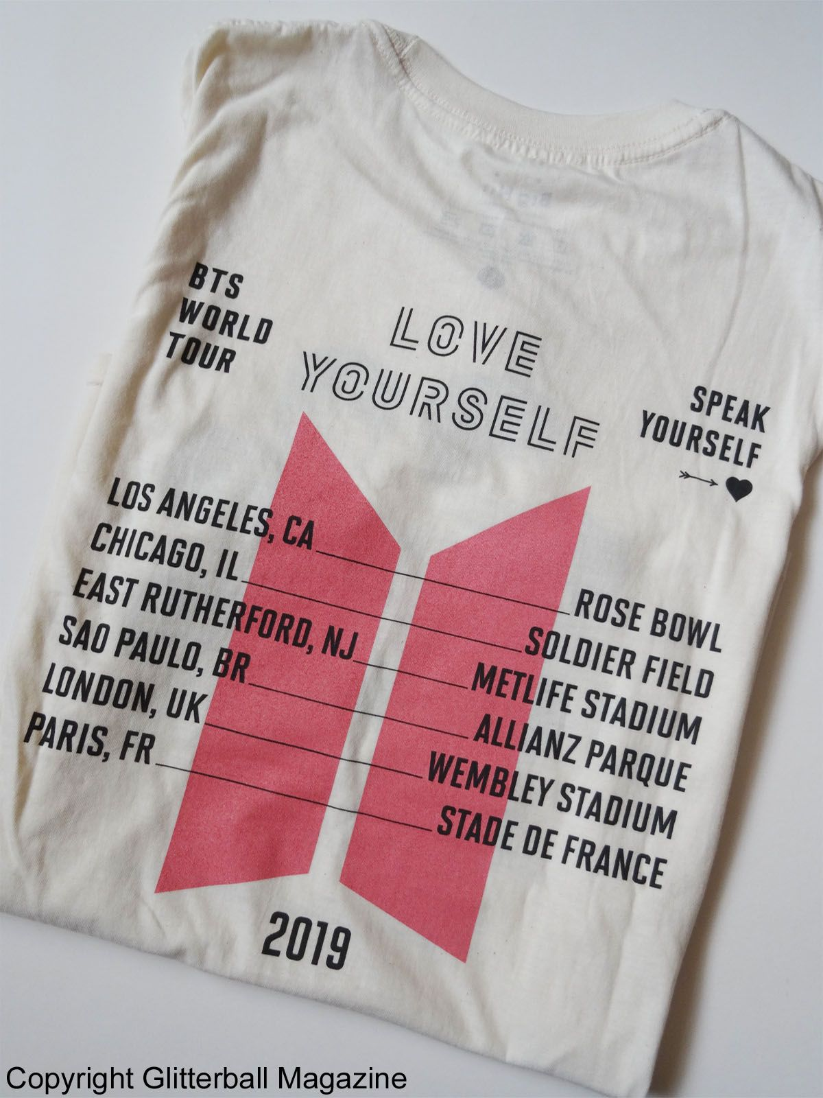 BTS Speak Yourself Tour Printed Front and Back T-Shirt ARMY WEMBLEY BLACK